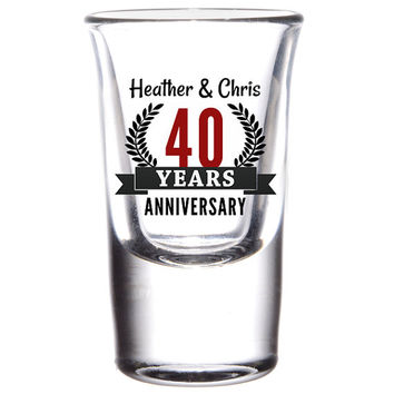 Anniversary Novelty Shot Glasses