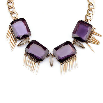Audrey Fringe Collar Necklace