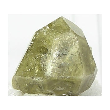 Olive Green Grossular Garnet Crystal Thumbnail Mineral or Gemstone Focal Stone from Siberia Russia
