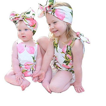 Girls Lemon Romper   Headband Outfit - Boutique Kids Toddler   N a8fbfaafe