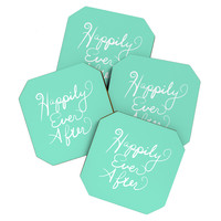 Lisa Argyropoulos Happily Ever After Aquamint Coaster Set