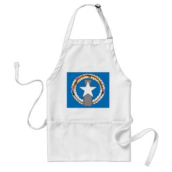 Apron with Flag of Northern Mariana Islands, U S A