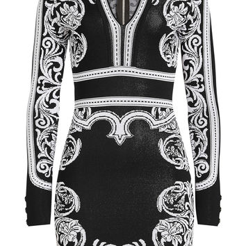 Intarsia Mini Dress - Balmain | WOMEN | KR STYLEBOP.COM