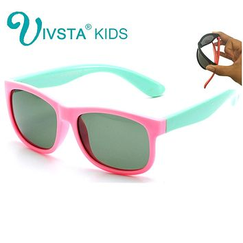IVSTA 825 B Baby Sunglasses infant Children Sun Glasses for Boys Cool Soft Silicone Flexible Rubber Polarized Lenses safe