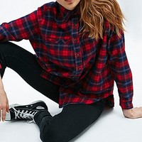 BDG Tartan Obie Flannel Shirt in Red - Urban Outfitters