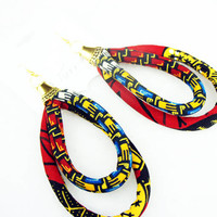 Double Loop Ankara Earrings