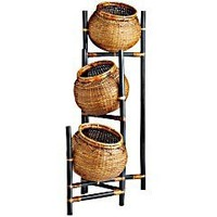Product Details - Rattan Basket Bamboo Stand - 3 Tier