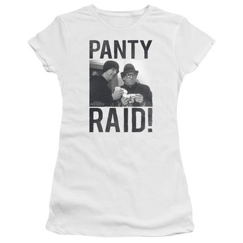 Revenge of the Nerds Panty Raid White Womens Fine Jersey T-Shirt