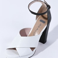 SKIN Blonde Venus Heel White/Black