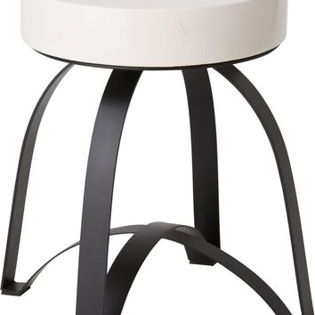 Dexter Metal Stool Powedercoated Black With A White Granite Top