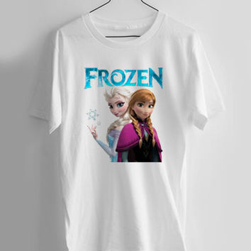 FROZEN princess anna and elsa T-shirt Men, Women and Youth