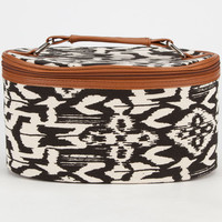 Ikat Print Cosmetic Bag Black Combo One Size For Women 24255614901