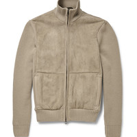 Loro Piana - Shearling and Ribbed Cashmere Jacket | MR PORTER