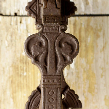 Antique Kenrick Front Door knocker - Victorian Cast Iron Restoration Hardware