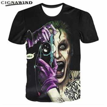 New suicide squad DC Comics 3D printed Men/Women T-shirts Harley Quinn Carnage Joker t shirts hip hop streetwear summer top tees