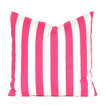 Hot Pink Pillow Cover, Throw Pillow, Decorative Throw Pillow, Toss Pillows, All Sizes Hot Pink Nursery Decor Hot Pink Pillow