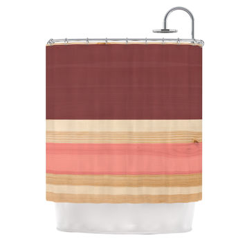 "KESS Original ""Spring Swatch - Marsala Strawberry"" Red Pink Shower Curtain"