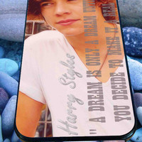 harry styles one direction quote for iPhone 4/4s/5/5S/5C/6, Samsung S3/S4/S5 Unique Case *95*