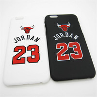 Fashion Michael Jordan Pattern Design Hard Plastic Ultra Thin Slim Back Cover for Apple iPhone 6 6s plus 5.5'' Phone Case