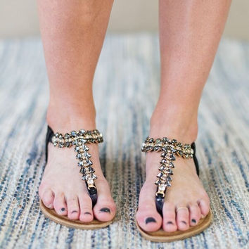 Rhinestone Cowgirl Crystal Sandals