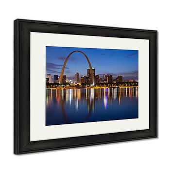 Framed Print, City Of St Louis Skyline