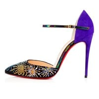 Christian Louboutin RIVIERINA ON FIRE Works Crystal Heels Sandals Shoes $1795