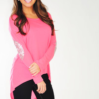 Make Me Sparkle Top: Neon Pink | Hope's
