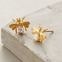 Buzzer Posts by Anthropologie in Gold Size: One Size Earrings