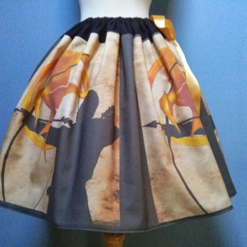 Hunger Games Skirt, Catching Fire, Mockingjay, Custom Fabric, Adjustable Waist Fits ALL Sizes LOVE