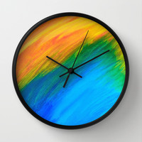 Field of Dreams Wall Clock by Sierra Christy Art