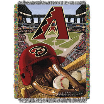 Arizona Diamondbacks MLB Woven Tapestry Throw (Home Field Advantage) (48x60)