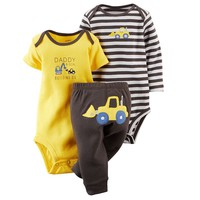 Carter's Striped Applique Bodysuit & Pants Set - Baby Boy, Size: