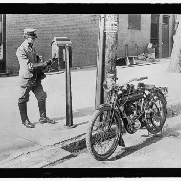 c.1920s US Mail USPS Mailman and his Motorcycle-Antique-Old-Vintage Reproduction Photograph/Photo/Poster: Gicclee Print. Frame it!