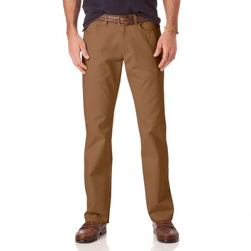 Chaps Classic-Fit 5-Pocket Twill Flat-Front Pants - Men|Chaps Classic-Fit 5-Pocket Twill Flat-Front Pants - Men