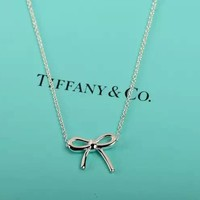 Tiffany & Co. Fashion women butterfiy knot necklace