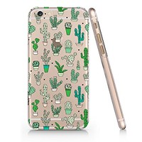 Cactus Pattern Slim Iphone 6 6S Case, Clear Iphone 6 6S Case Plastic Hard Case Unique Design-Quindyshop (AM590)