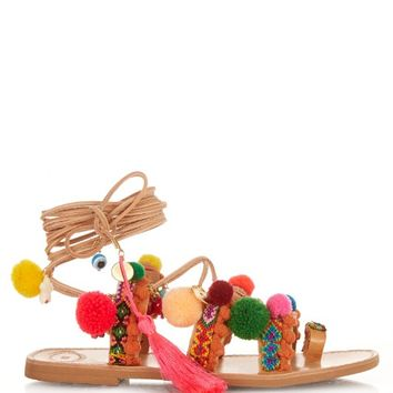 Penny Lane embellished leather flat sandals | Elina Linardaki | MATCHESFASHION.COM US