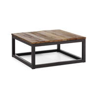 Modern Industrial Square Coffee Table