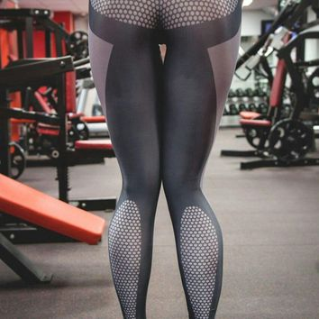Womens Sporty Stretch Yoga Slim Leggings