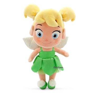 "Licensed cool Toddler Tinker Bell Fairy Peter Pan 12"" Plush Toy Doll 2015 Disney Store NWT"