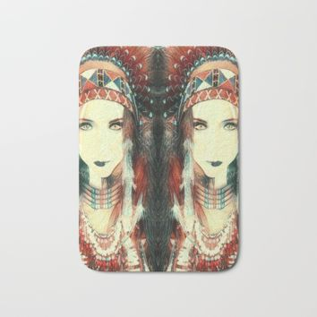 Cherokee Indian Spirit Bath Mat by Art Appreciation