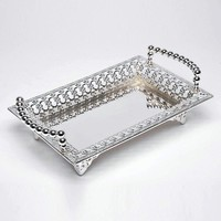 Gold/Silver Plated Serving Tray For Home Party Event Supplies