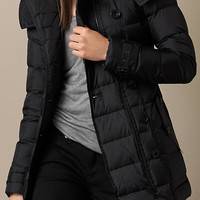 Down-Filled Coat with Detachable Hood