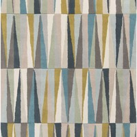 Oasis Geometric Area Rug Blue