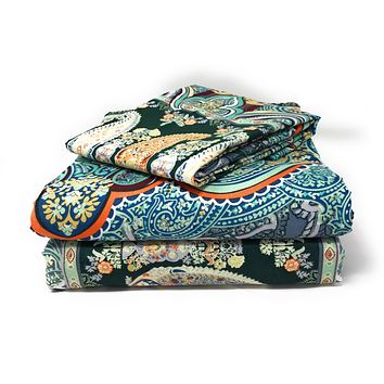 Tache Paisley Monarch Fitted and Flat Bed Sheet Set (2814FITFLT)