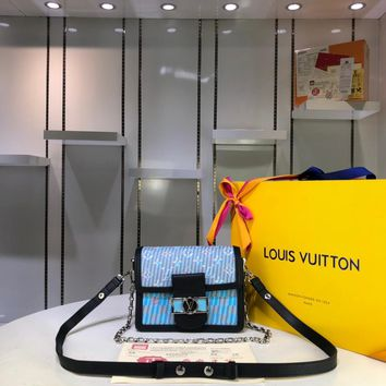 Kuyou Gb29925 Louis Vuitton Lv M55454 Monogram Lv Pop Print Handbag Cross Body Bag Mini Dauphine Lv Lock 20x 15x 9cm