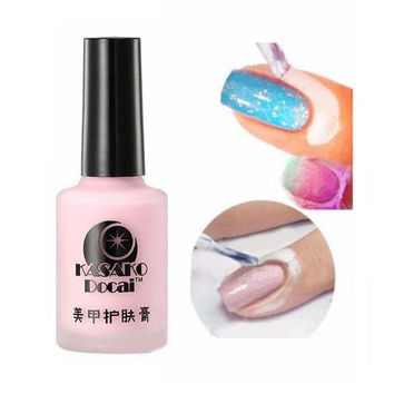 CREYHY3 2016 New 15ml Mgic Pink Liquid Peel Off Nail Art Tape Latex Tape Palisade Easy Clean Finger Skin Care Cream For Nail Tool NB075