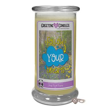 Follow Your Dreams | Jewelry Greeting Candle