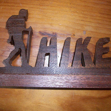 Wooden Hike sign display
