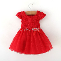 Retail - 2016 Autumn bow Baby clothing,ball gown children kids tutu baby girls dress baby dress red